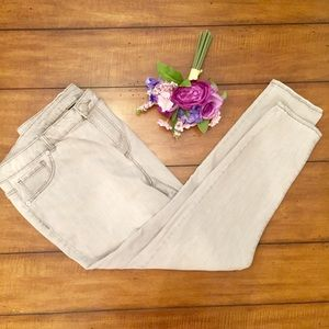 Lane Bryant Light Gray Skinny Jeans